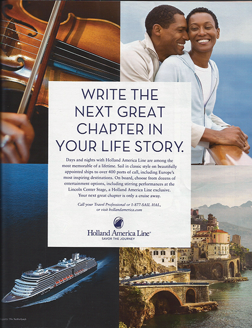 Holland America: Write the Next Great Chapter in Your Life Story